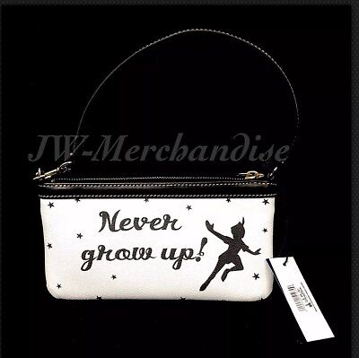 Disney Dooney And Bourke Clutch Wristlet Purse Peter Pan Never Grow Up NWT