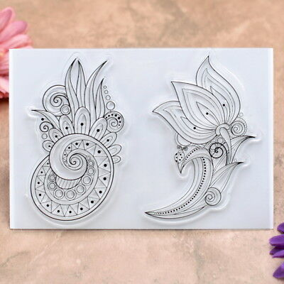 Flowers Scrapbook DIY photo cards rubber stamps clear stamp paper crafts
