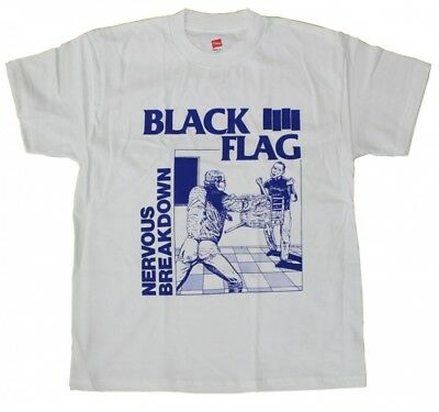 T-Shirt Black Flag Nervous Breakdown White Unisex