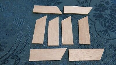 8 x Quality Wooden Stretched Canvas Key Wedges Corner Bars for Frame NEW