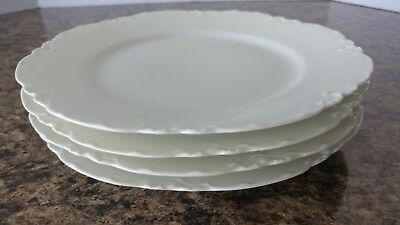 """HAVILAND china Limoges France RANSON WHITE Cup /& Saucer 2-1//4/"""" x 3-3//4/"""" set of 2"""