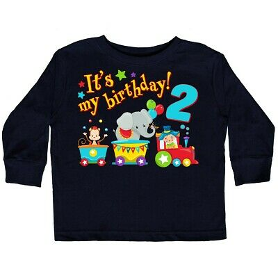 Inktastic Its My Birthday Circus Train 2nd Toddler Long Sleeve T Shirt