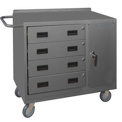 """GRAINGER APPROVED Mobile Service Bench,36"""" W,22"""" L, 2211-95, Gray"""