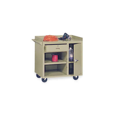GRAINGER APPROVED Mobile Service Bench,22 In. L,36 In. W, 4YW34, Putty