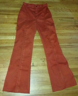 Vintage 70's 80's Burnt Orange  Dittos Ditto High Waist Bell Bottom Jeans Pants