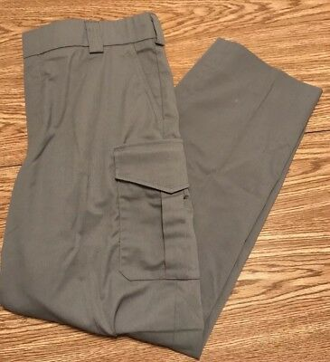 Men's Blauer Tactical Police Pants Grey Multi Pocket Sz38 Regular