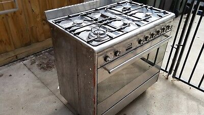 SMEG 900 Stainless Steel freestanding 6 burner gas stove and electric oven