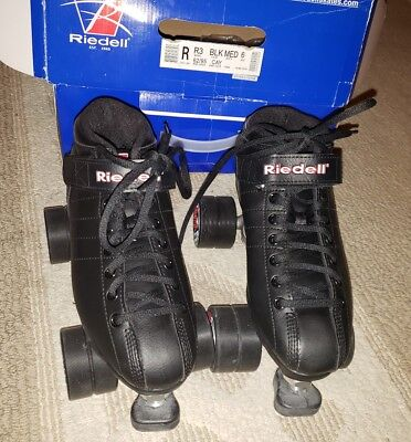 RIEDELL R3 Roller Derby Speed Skates Cayman Radar with box  MEN'S SIZE 6