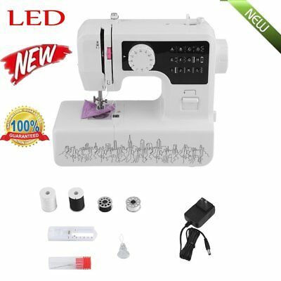 NEW LED Light Electric Mini Speed Portable Household Desktop Sewing Machine QC