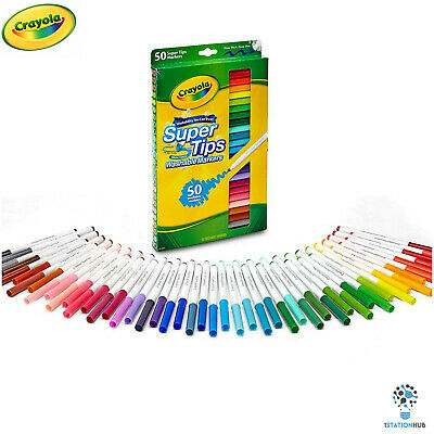 Crayola SuperTips | Nontoxic Washable Markers | Pack of 50 Super Tips Colour Pen