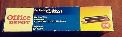 Office Depot Fax Ribbon KX-FA 93 for Panasonic KX-FHD 331, 332, 351 Machines NIB