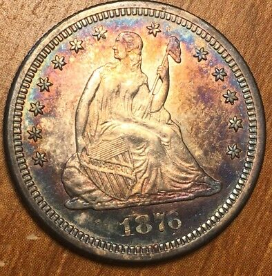 1876-S Seated Liberty Silver Quarter . Gemmy and very nice look at this one good
