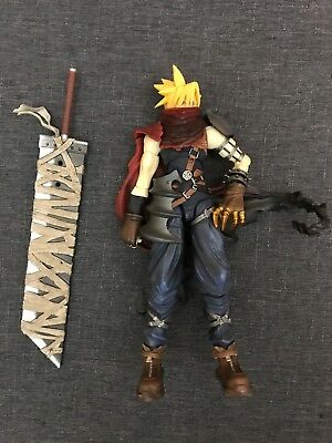 Loose Square Enix Kingdom Hearts 2 Cloud Strife Action Figure Play Arts 8in