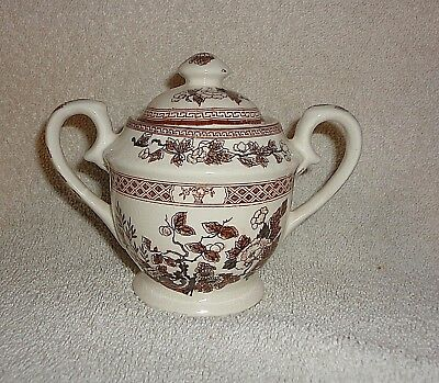 Vtg NASCO Indian Tree  Covered Sugar Bowl small demitasse