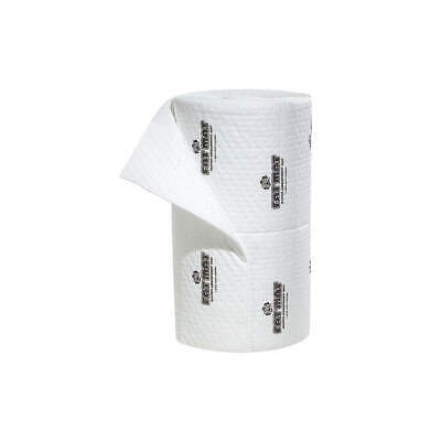 NEW PIG Polypropylene Absorbent Roll,Oil-Based Liquids,White, MAT4102, White