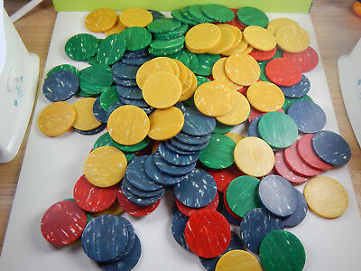 Vintage Galalith Casein Colored Swirl Poker Chips 178 Chips
