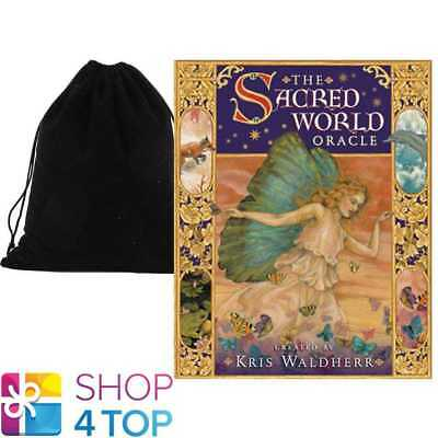 The Sacred World Oracle Deck Cards Esoteric Us Games Systems With Velvet Bag New