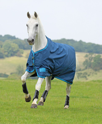 brand new shires tempest lite no fill turnout rug petrol all sizes