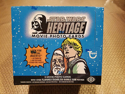 Topps Star Wars Heritage box, sealed possible auto C Fisher, foil, sketch cards