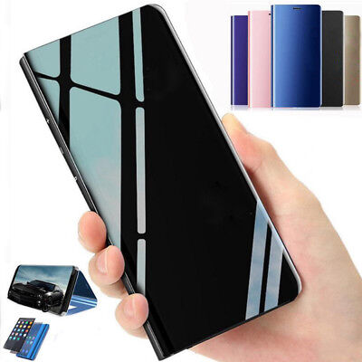 For Xiaomi 8 Redmi Note5A/5Plus Clear View Case Flip Leather Mirror Stand Cover