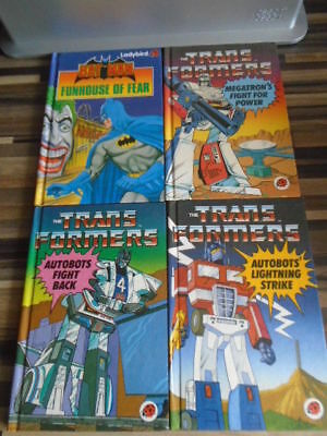Ladybird Books Vintage Transformers And Batman Very Good Condition