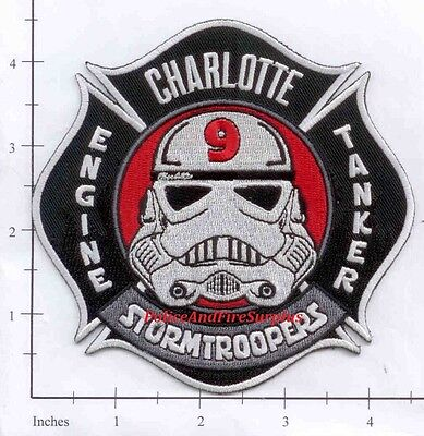 North Carolina - Charlotte Station 9 NC Fire Dept Patch  Star Wars Stormtroopers