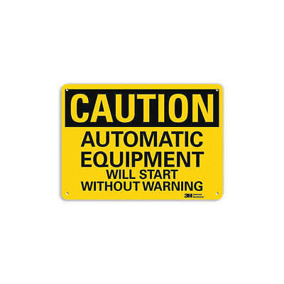 LYLE Safety Sign,Automatic Equipment,10in.H, U4-1068-RA_14X10