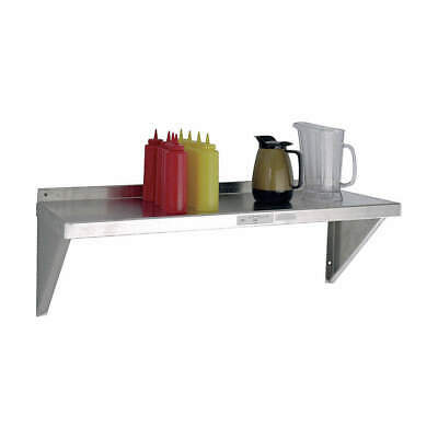 "NEW AGE Wall Shelf,Aluminum,48"" W,18"" D, 92094, Silver"