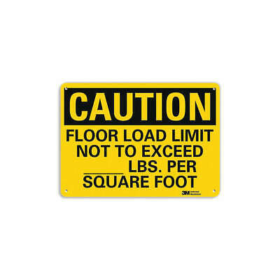 LYLE Safety Sign,Floor Limit Not Exceed,10inH, U4-1315-RA_14X10