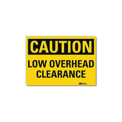 LYLE Safety Sign,Overhead Clearance,10in.W, U4-1516-RD_10X7