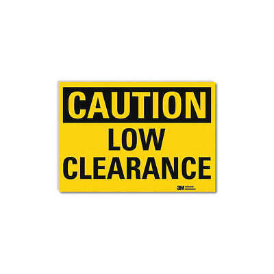 LYLE Safety Sign,Low Headroom,10in.W, U4-1512-RD_10X7