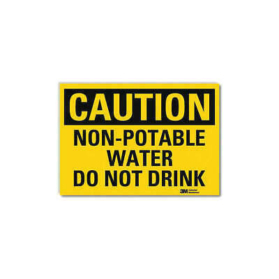 LYLE Safety Sign,Non-Potable Water,10 in. H, U4-1560-RD_14X10
