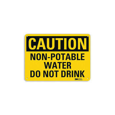LYLE Safety Sign,Non-Potable Water,7 in. H, U4-1560-RA_10X7
