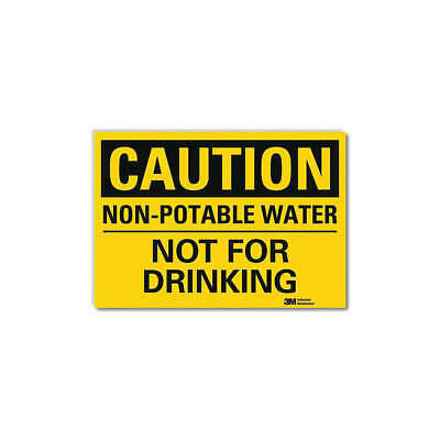 LYLE Safety Sign,Water Not For Drinking,5in H, U4-1561-RD_7X5