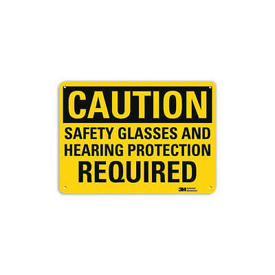 LYLE Safety Sign,Hearing Protection,7 in. H, U4-1641-RA_10X7