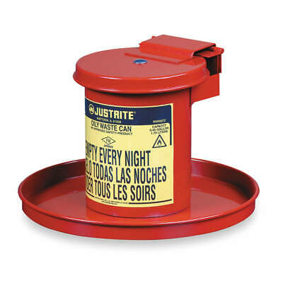JUSTRITE Drain Can,1/2 Gal.,Red,Galvanized Steel, 09400