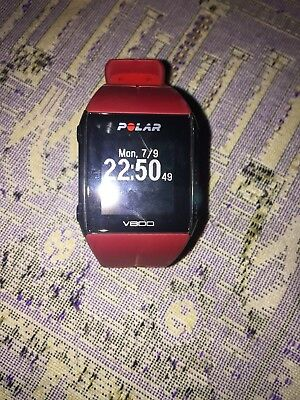 Polar v800 Sport Watch Red with HR monitor, chest strap, charger and box