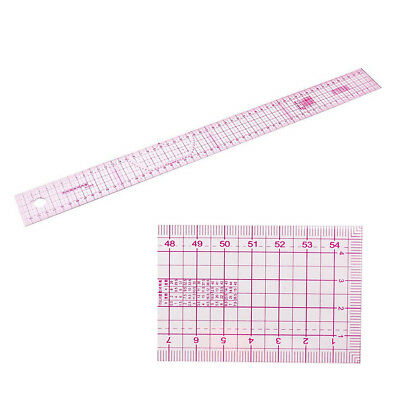 54 cm straight Rule Sewing Double Ratings Share metric metrical Clear Pink