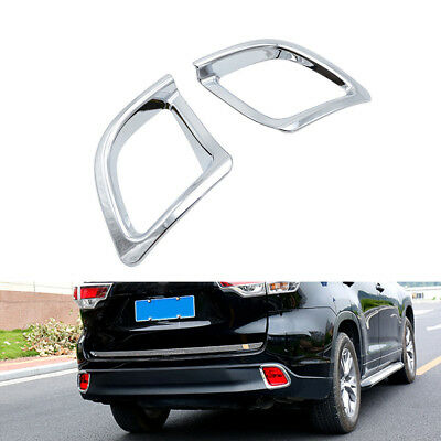 For Toyota Highlander Kluger 2015 2016 2017 2018 Chrome Fog Light Cover Trim
