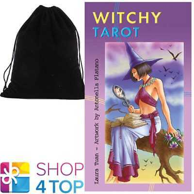 Witchy Tarot Deck Cards Esoteric Telling Lo Scarabeo With Velvet Bag New