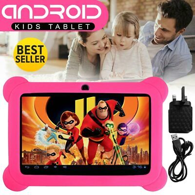 """New 7"""" INCH ANDROID TABLET 4.4 QUAD CORE 8GB Camera & WIFI for Kids Children"""