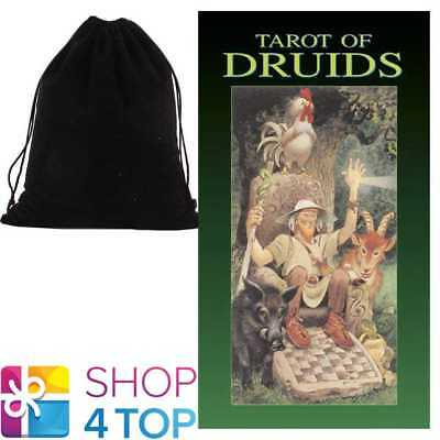 Tarot Of Druids Deck Cards Esoteric Telling Lo Scarabeo With Velvet Bag New