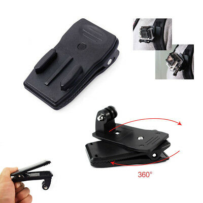 360° Rotary Backpack Belt Strap Clip Clamp Mount Fit For Gopro Hero Yi 4K Camera