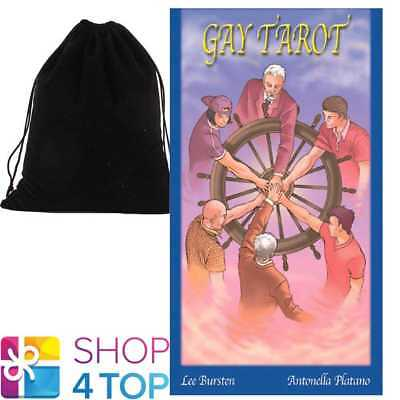 Gay Tarot Deck Cards Esoteric Fortune Telling Lo Scarabeo With Velvet Bag New