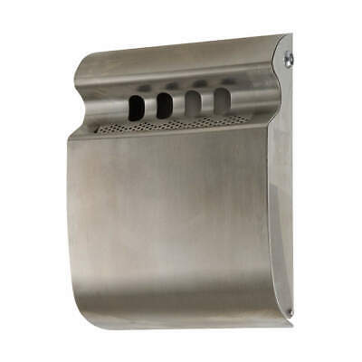 TOUGH GUY Stainless Steel Cigarette Receptacle,1/4 gal.,Silver, 12V180, Silver