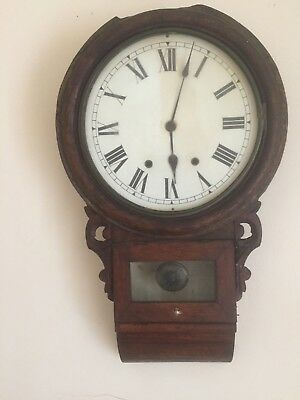 Victorian Newhaven American Drop Trunk Wall Clock