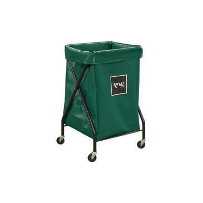 ROYAL BASKET TRUCK X-Frame Cart,6 Bu,Green Vinyl, G06-EEX-XFA-3ONN, Green