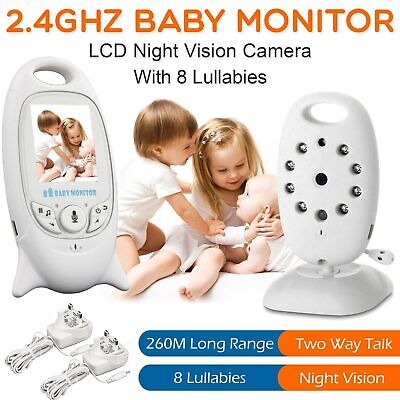 "2.4"" HD Baby Monitor Wireless Audio Video Night Vision 2 Way Talk Safe Camera"