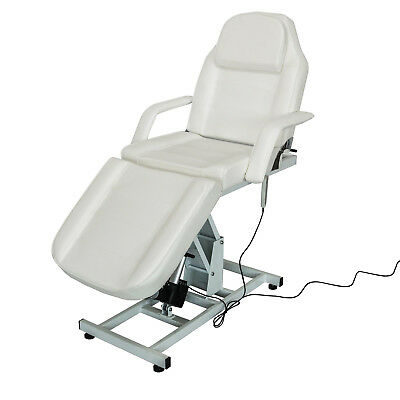 Beauty Salon Massage Chair Bed Electric Adjustable Therapy Treatment Couch Cream