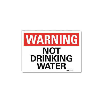 LYLE Warning Sign,Not Drinking Water,5 in. H, U6-1187-RD_7X5